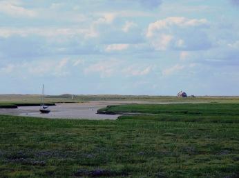 blakeney estuary with lavender