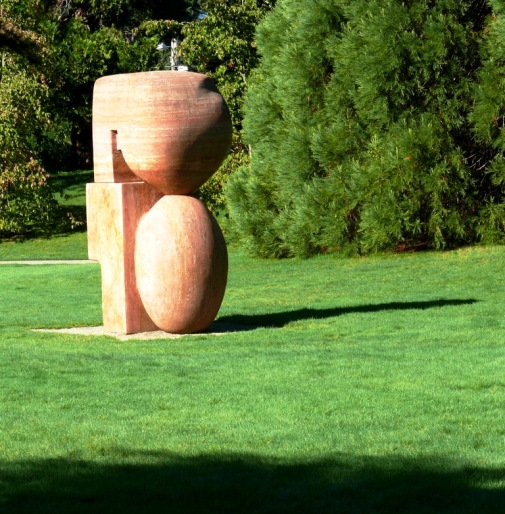 Travertine Sculpture 75 or Three Forms or Family Life