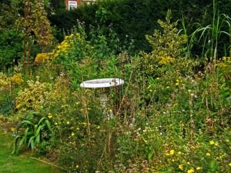 Bird Bath in the Yellow Garden