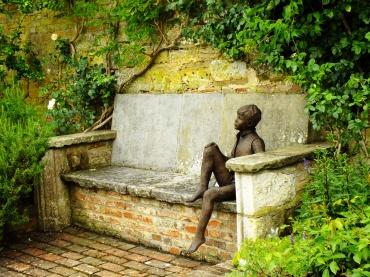 Sculpture on a bench