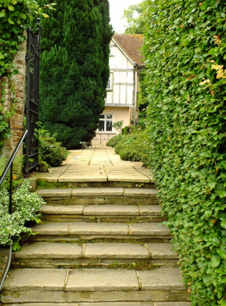 Steps to the manor house