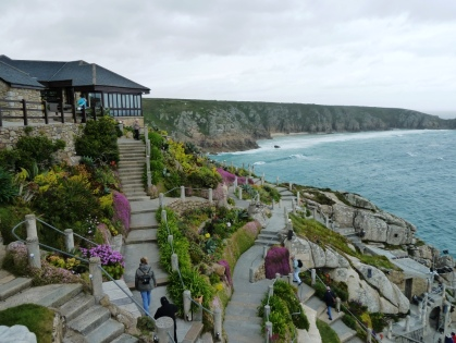 View to Porthcurno Beach