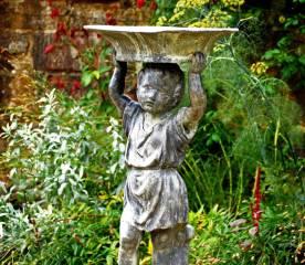 Birdbath in the Forecourt Garden