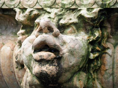 Gargoyle on the fountain