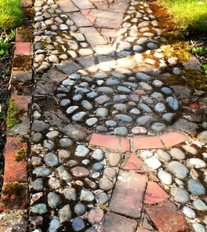 Cobbled path