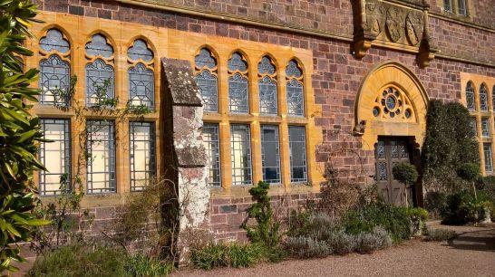 Golden framed windows