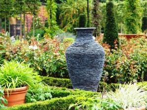 Slate sculptured vase