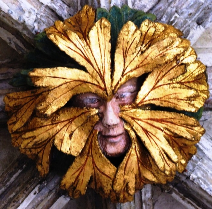 The Green Man of Norwich Cloisters